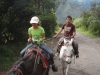 Horseback riding up the side of Tungurahua