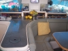 Inside our boat, salon