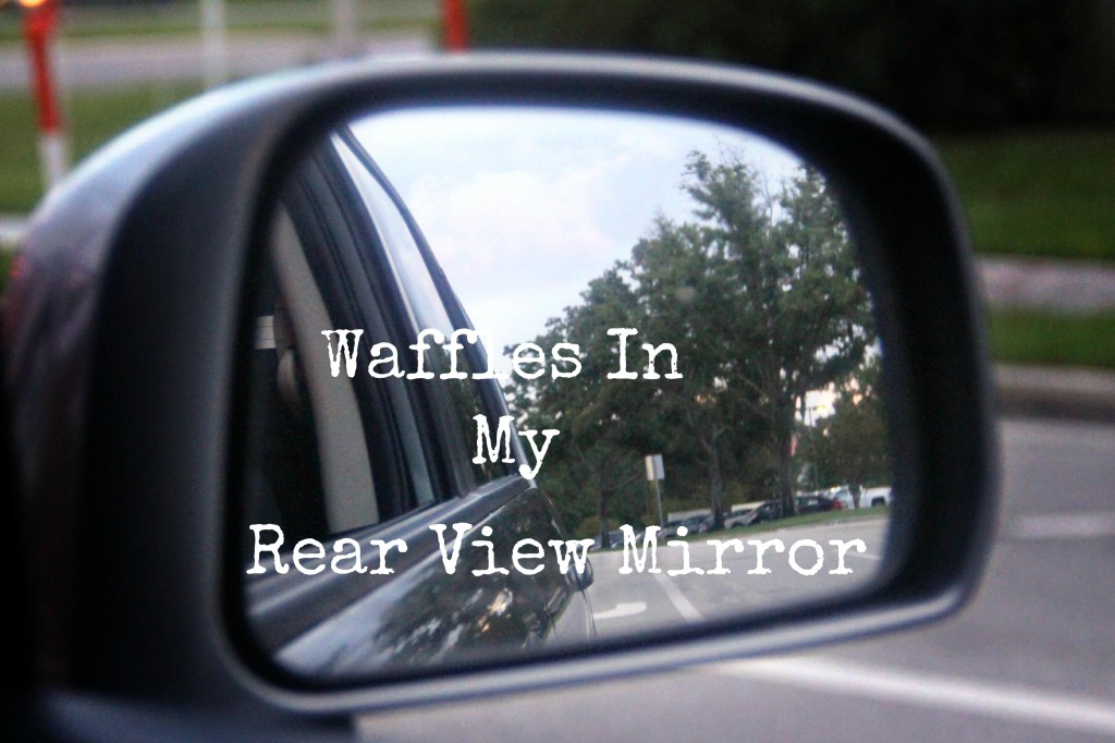 Waffles in my rear view
